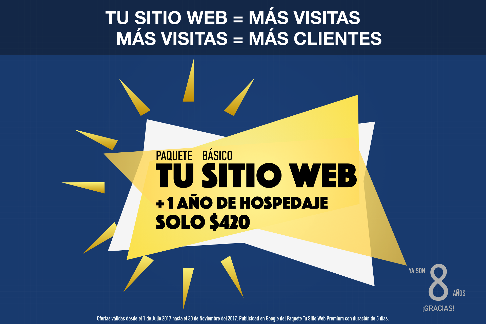 Solicita el Nuevo Paquete Tu Sitio Web Básico