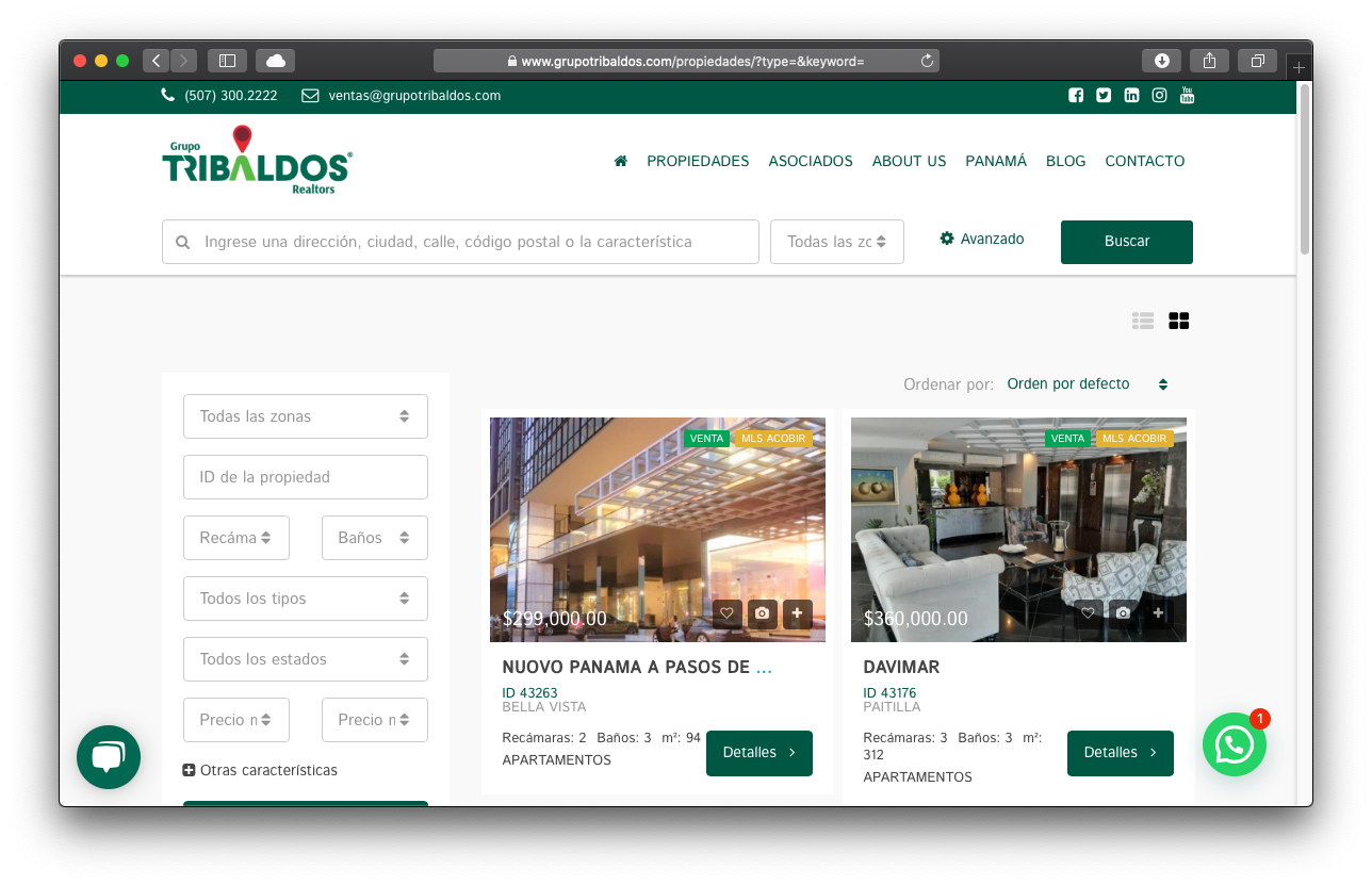 Sitio Web & Integraciones